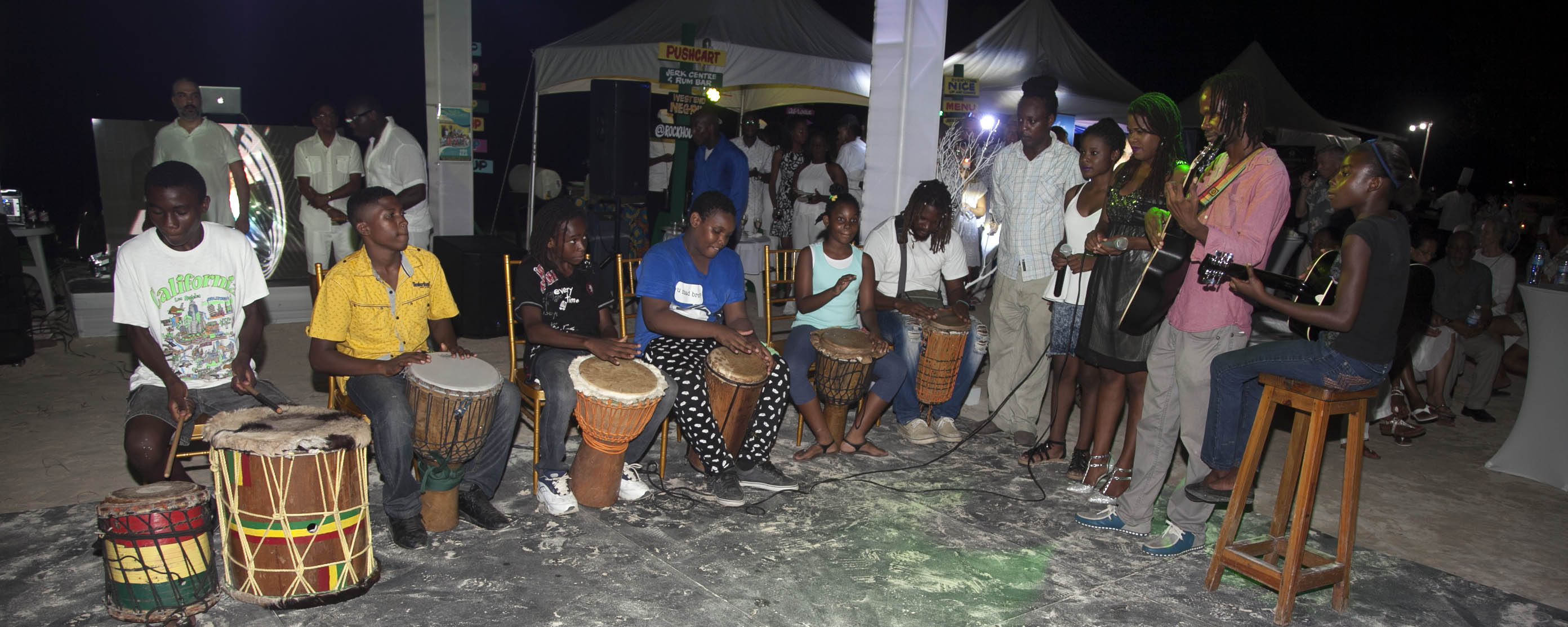 Drummers @ NCC International Food and Wine Event 2016, Negril Jamaica